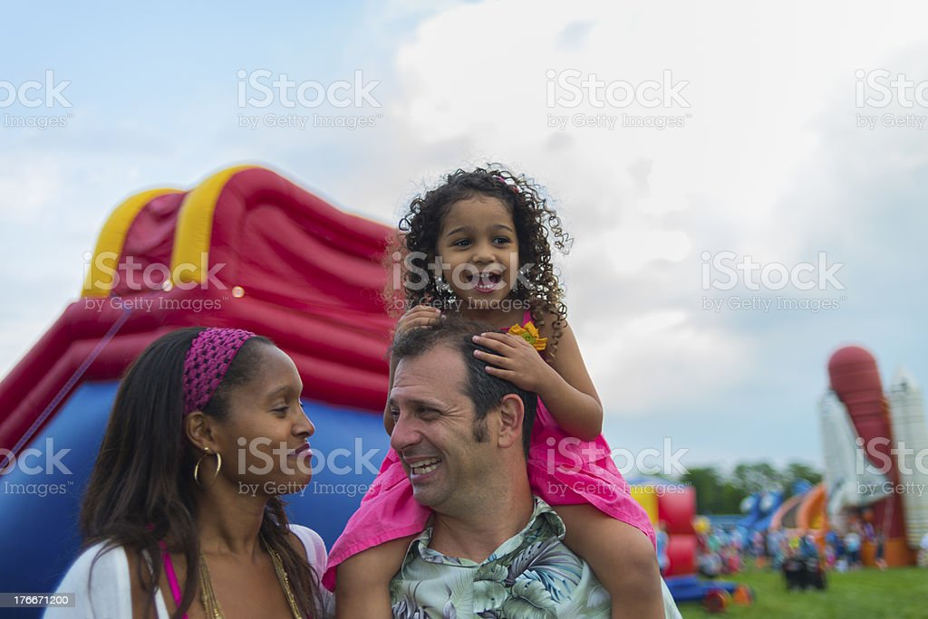 Family at a Festival royalty-free stock photo