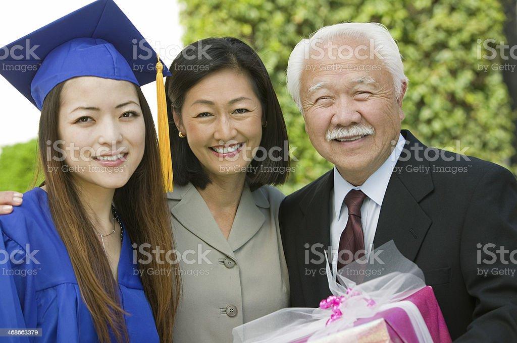 Family at Graduation stock photo
