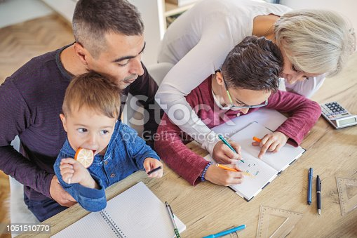 istock Family at home 1051510770