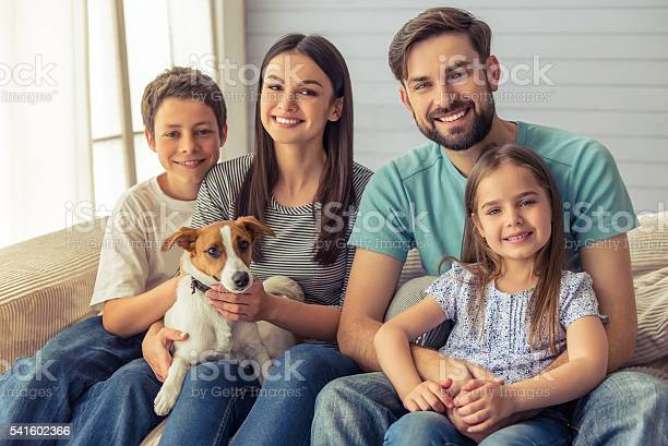 Family At Home Stock Photo - Download Image Now