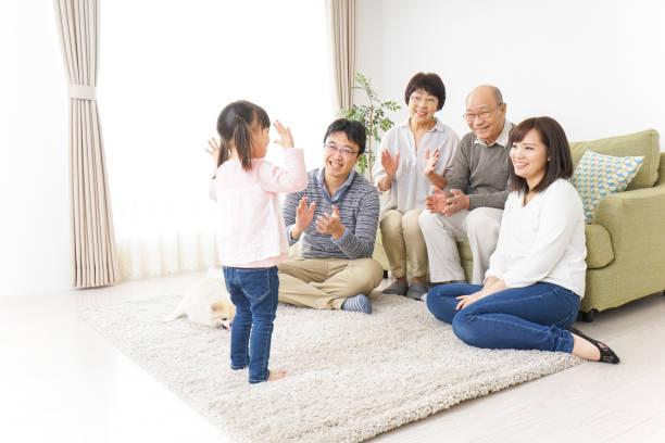family at home - cultura orientale foto e immagini stock