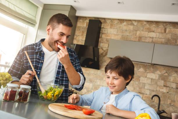 Family at home standing in kitchen together father eating tomato picture id1278330330?b=1&k=6&m=1278330330&s=612x612&w=0&h=koagqvpz0p7fssiuj5bra5smygrchqonocm2tpedjp4=