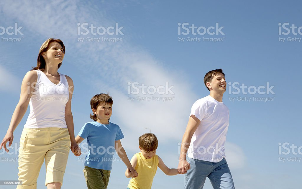 Family at rest royalty-free stock photo