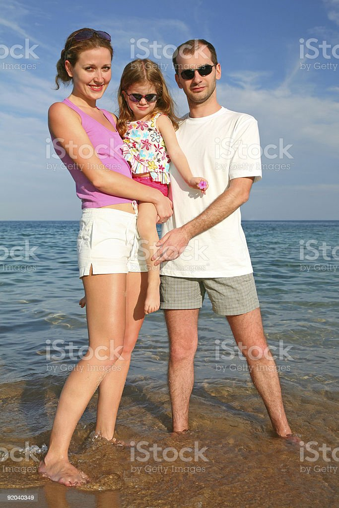 Family at sea royalty-free stock photo