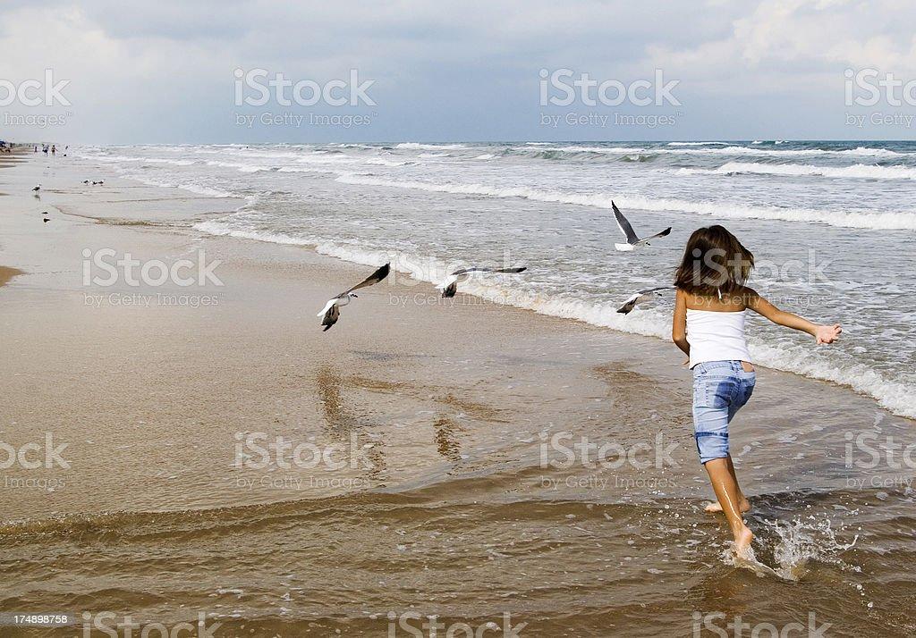 Family at the beach royalty-free stock photo