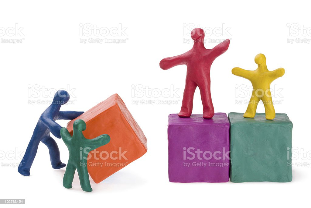 Family at the construction site royalty-free stock photo
