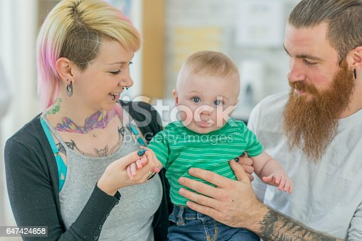 istock Family at the Doctor's Office 647424658