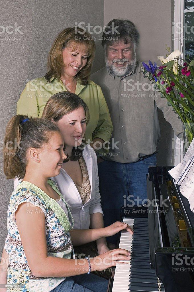 Family at the Piano royalty-free stock photo