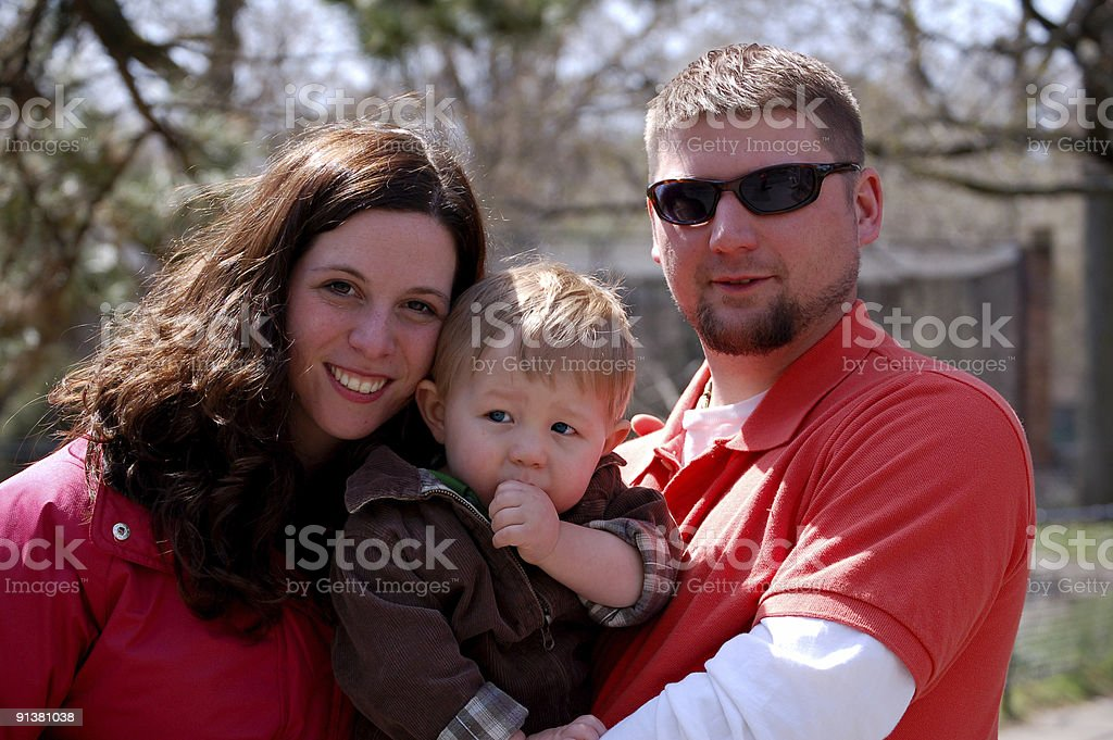 Family at the Zoo stock photo