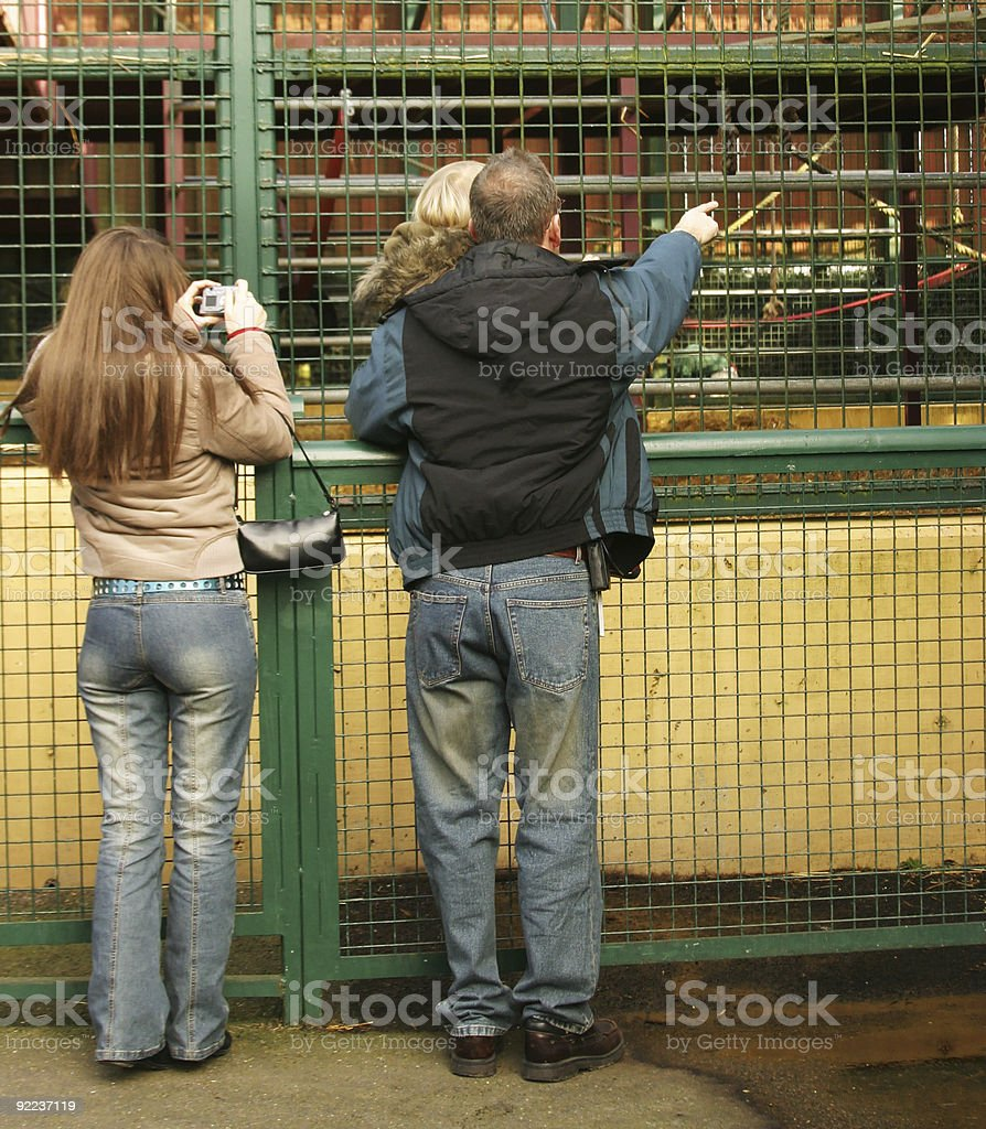 Family at the Zoo royalty-free stock photo
