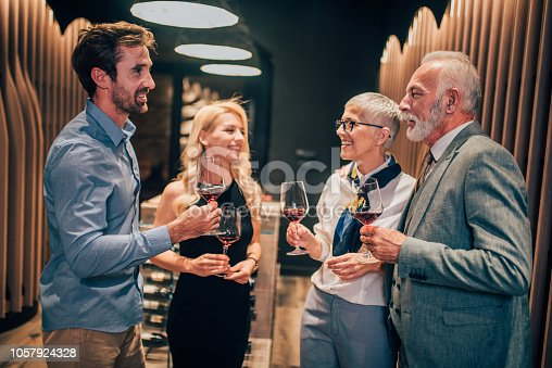 istock Family at wine cellar 1057924328