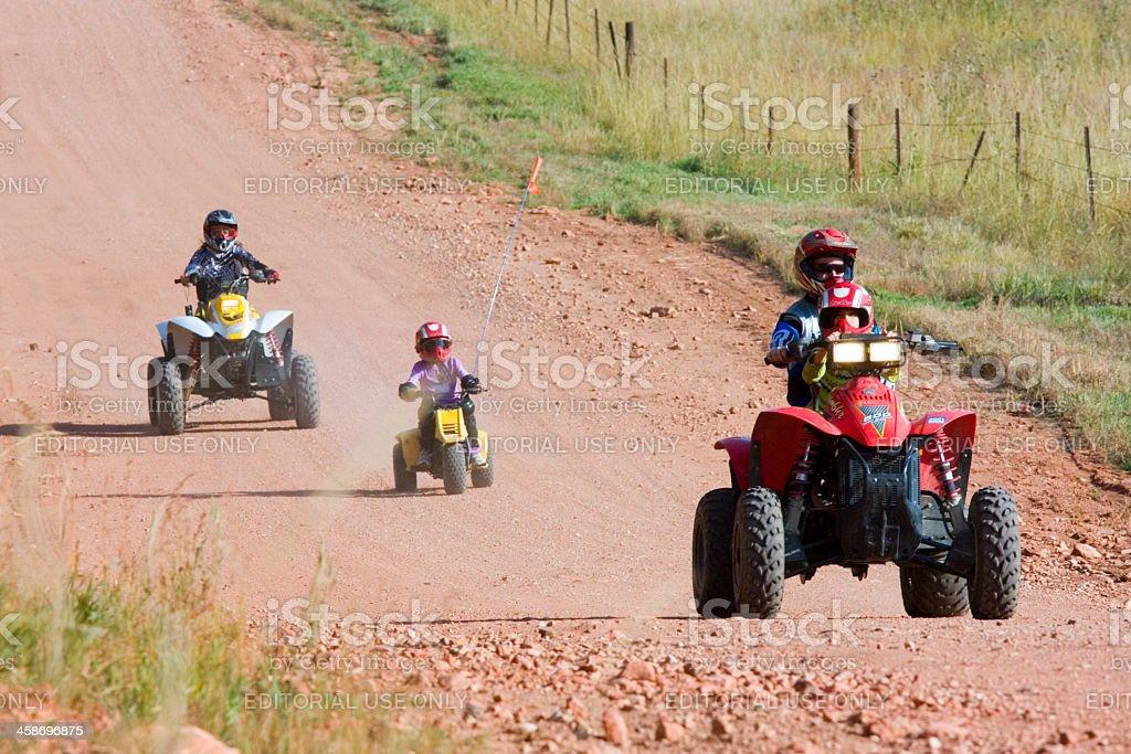 Family ATV Outing stock photo