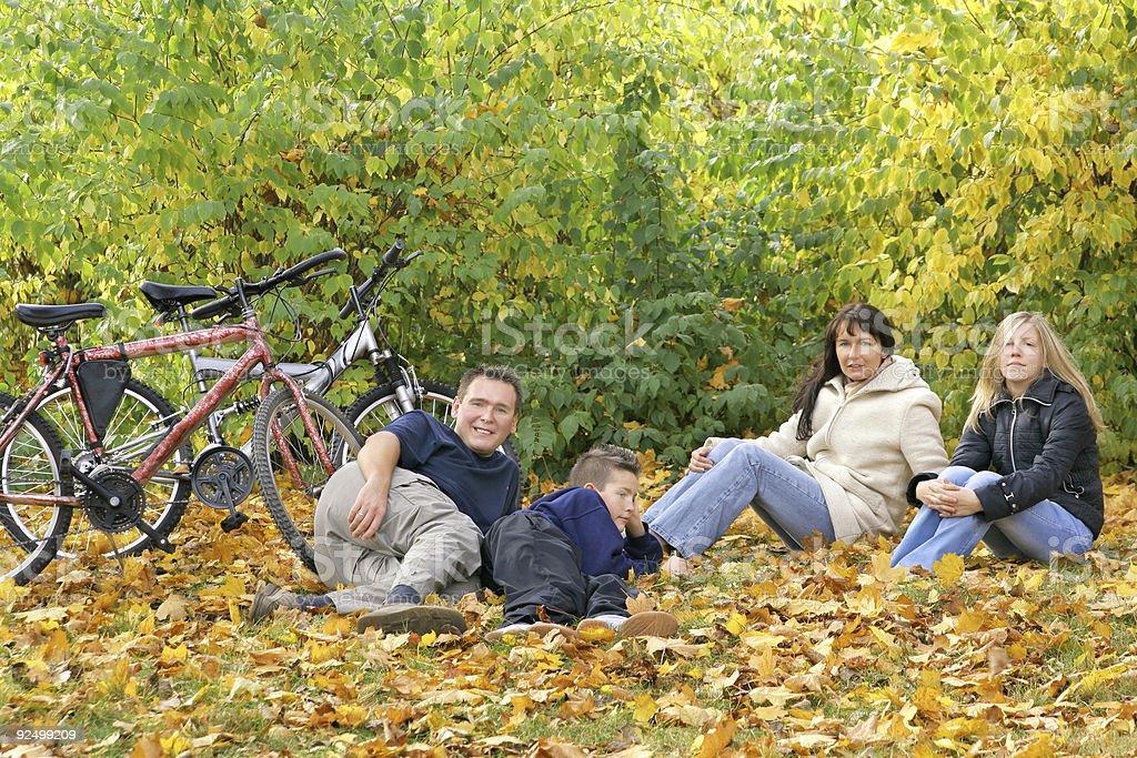 Family - Autumn Walk royalty-free stock photo