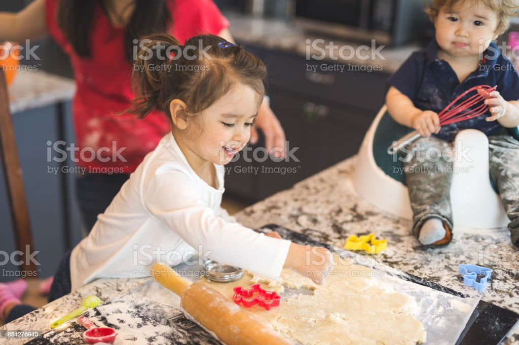 Family Baking Day! stock photo