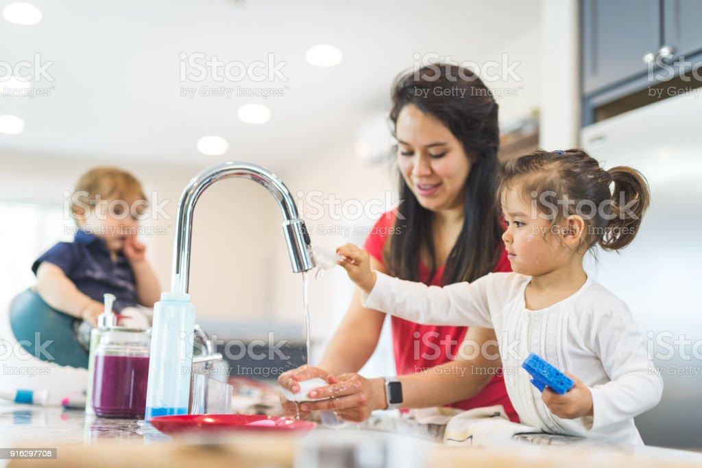Family Baking Day! stock photo