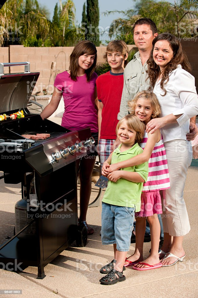 Family BBQ royalty-free stock photo