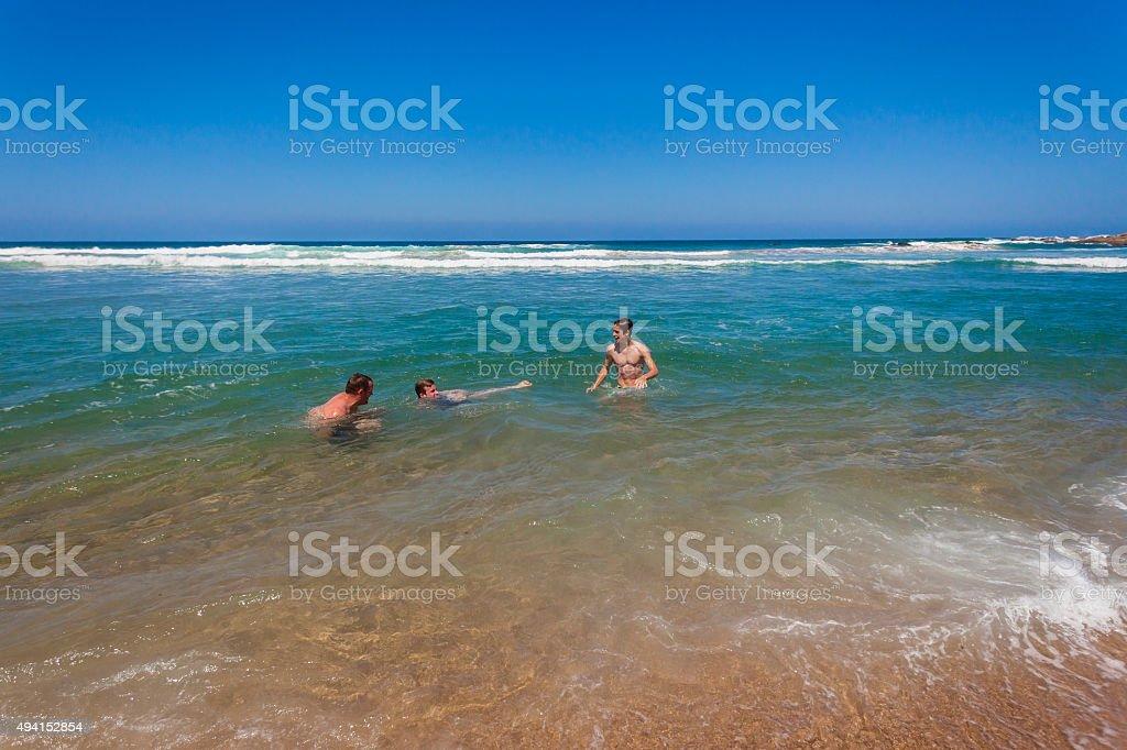 Family Beach Holidays stock photo