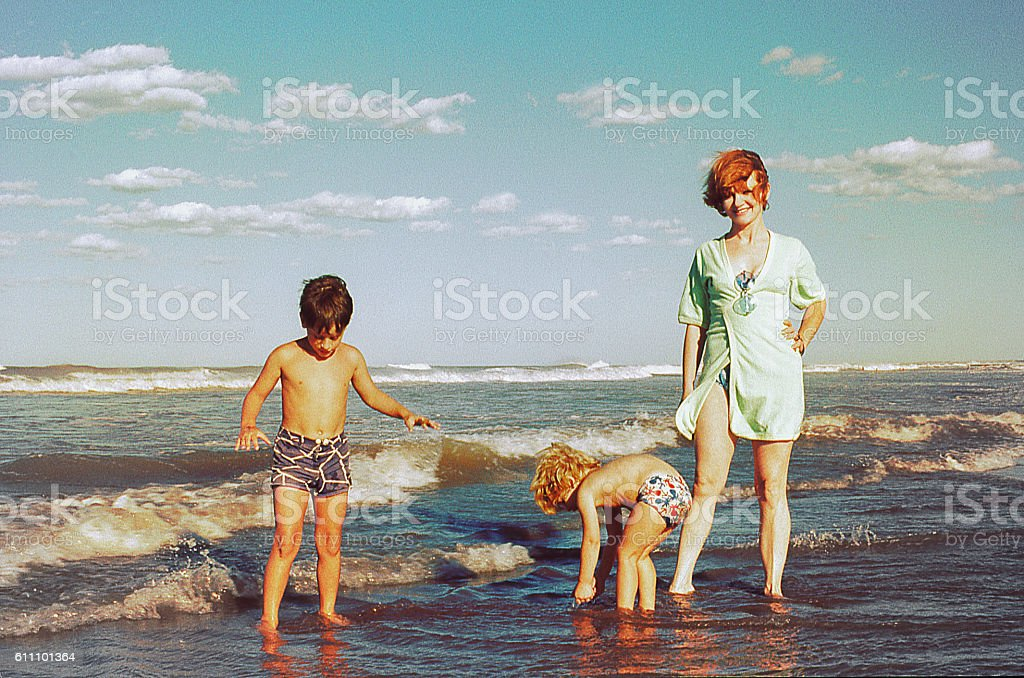 Family beach vacations stock photo
