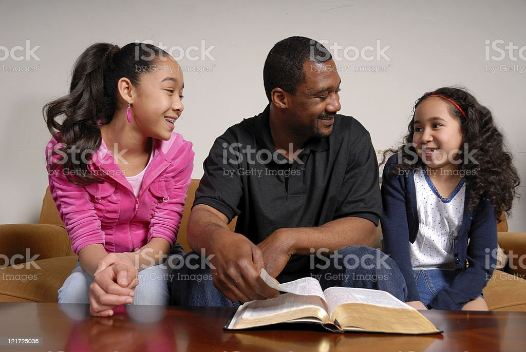 Family Bible Time royalty-free stock photo