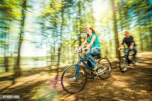 istock Family Bicycle Ride 474951485