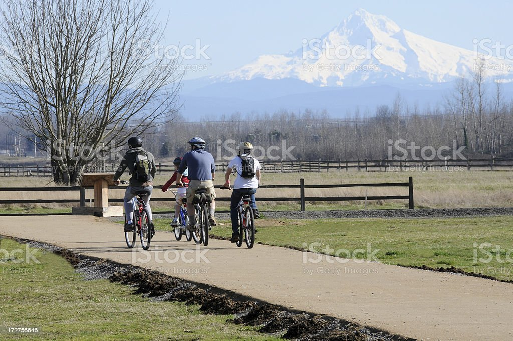 Family Bike Ride royalty-free stock photo