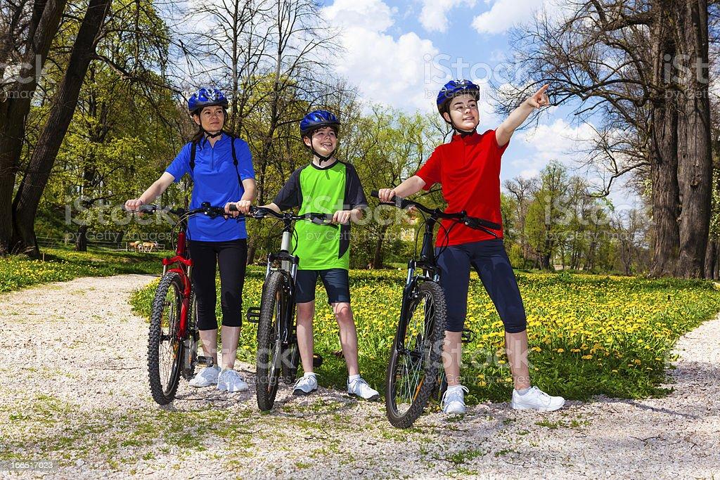 Family biking royalty-free stock photo