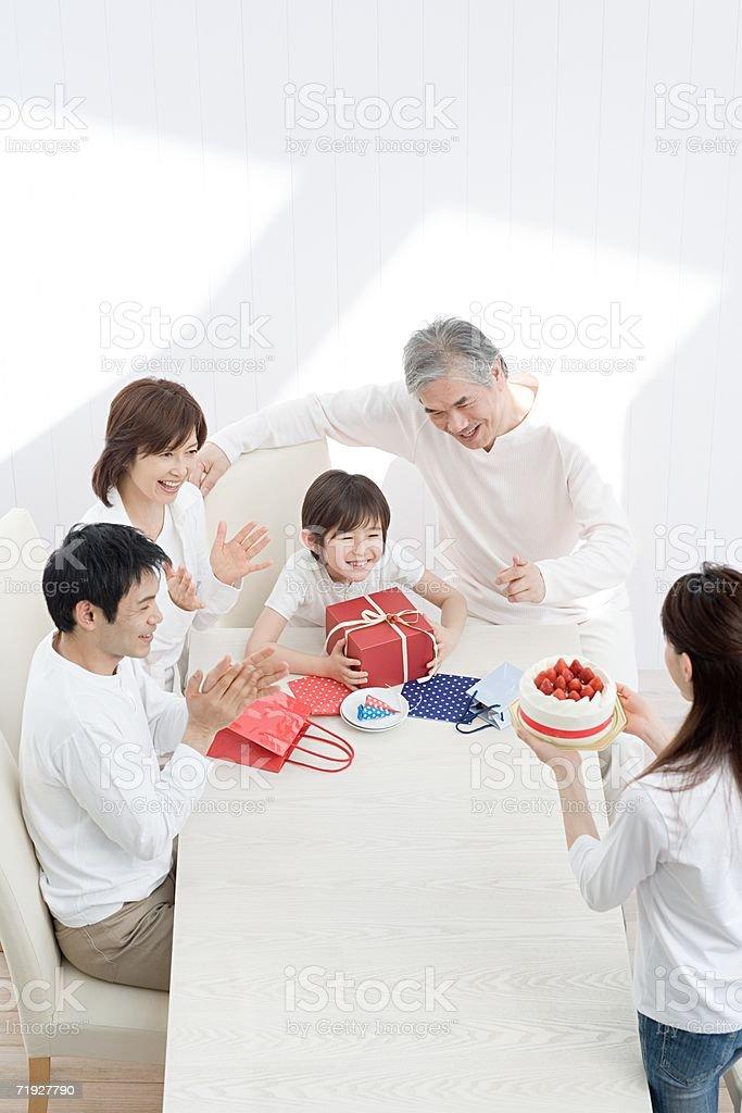 Family birthday party royalty-free stock photo