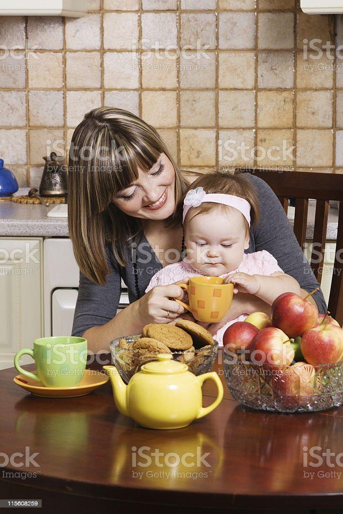 Family breakfest royalty-free stock photo
