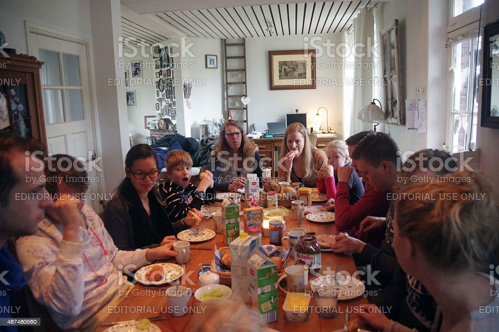 Family brunch stock photo