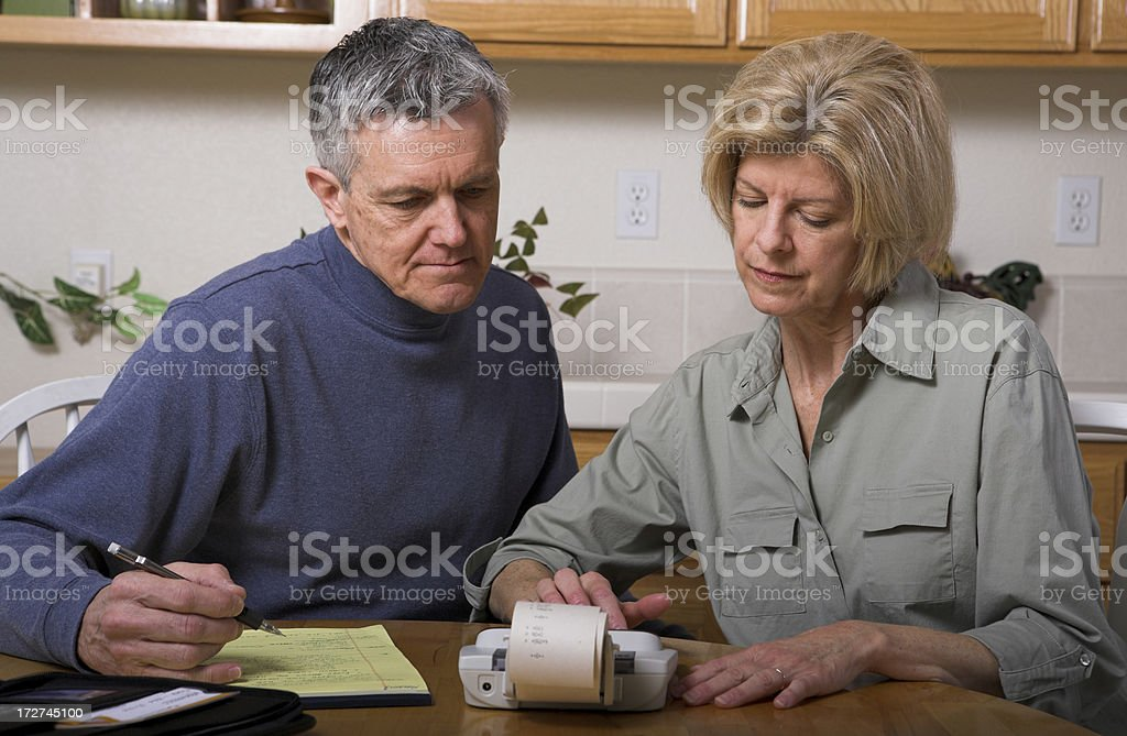 Family Budget Economy Bankruptcy Bills Taxes royalty-free stock photo