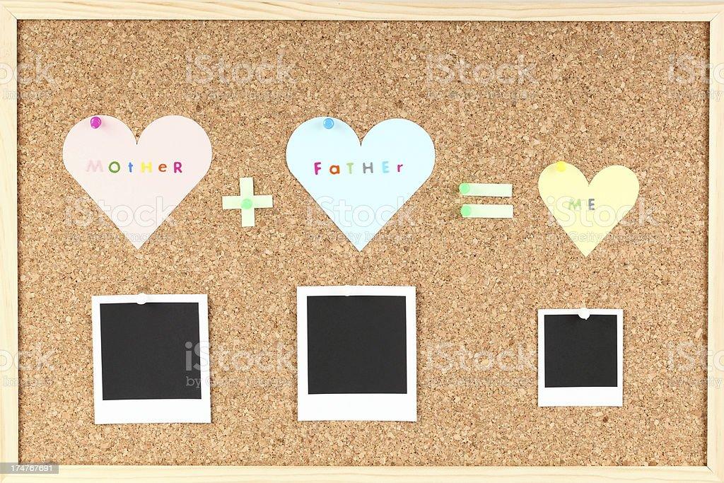 Family bulletin board royalty-free stock photo