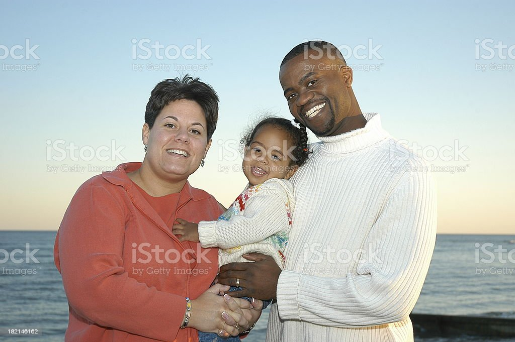 Family by the sea royalty-free stock photo