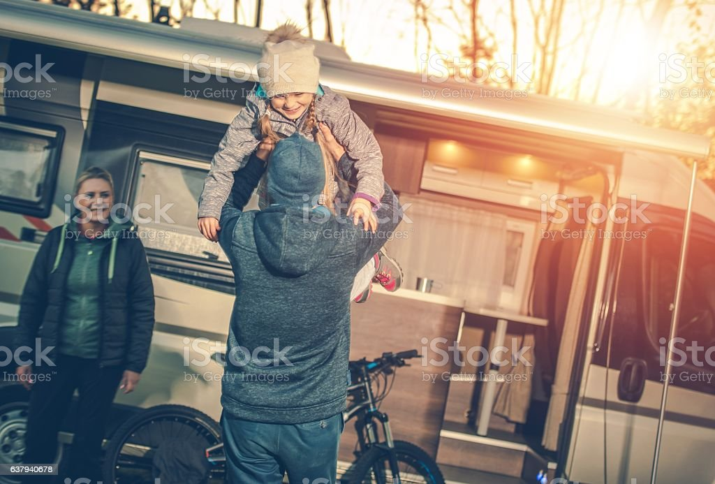 Family Camping Time stock photo