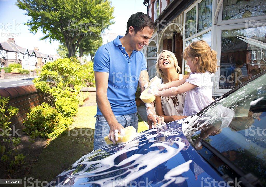 Familie Spaß Autowäsche – Foto