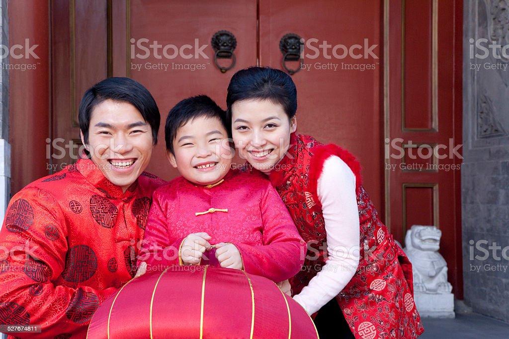 Familie feiert chinesischen Neujahrsfest – Foto