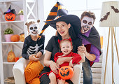 istock family celebrating Halloween 1036194370
