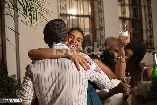 istock Family Celebrating Happy New Year at Home 1072528980