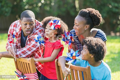 1091098220istockphoto Family celebrating Memorial Day or July 4th 540995174