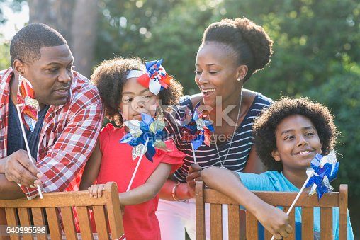 1091098220istockphoto Family celebrating Memorial Day or July 4th 540995596
