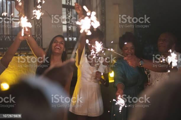 Family celebrating new year party with sparkler picture id1072675928?b=1&k=6&m=1072675928&s=612x612&h=oxmrbbczzoc24tzffyzpzda5fleyab2sj6jjj6iho2q=