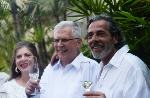 Family celebrating Family celebrating New Year`s Eve in Brazil. reveillon stock pictures, royalty-free photos & images