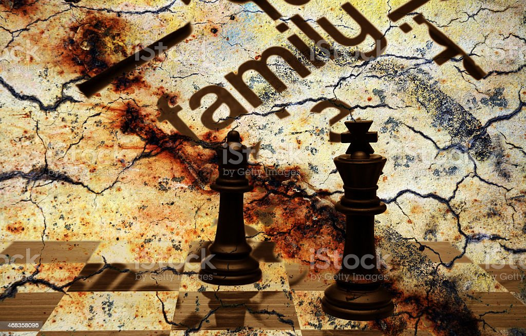 Family chess concept royalty-free stock photo