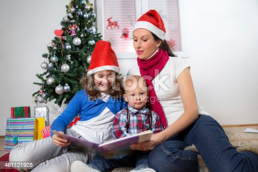 istock Family Christmas Fun At Home 461121925