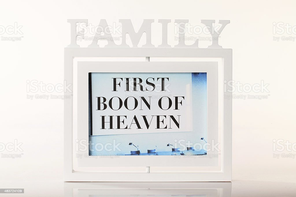 Family concept - first boon of heaven royalty-free stock photo