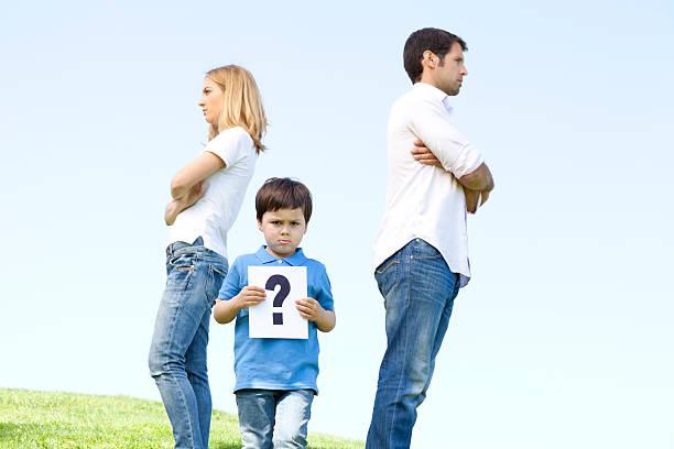 familie-konflikt - trennungssprüche stock-fotos und bilder