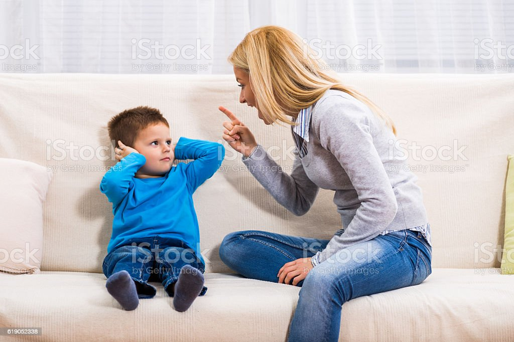 Family conflict stock photo
