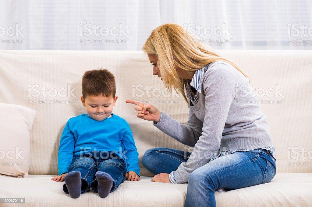 Family conflict stock photo