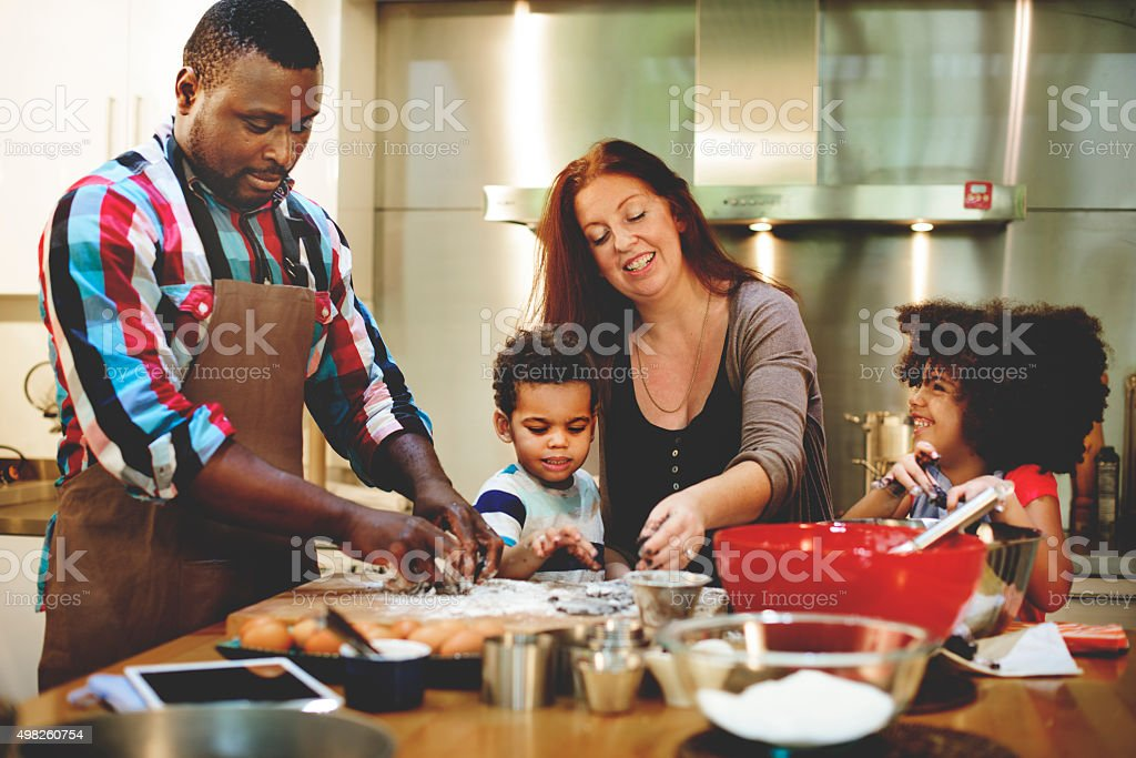 Family Cooking Kitchen Food Togetherness Concept royalty-free stock photo