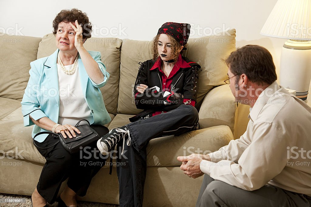 Family Counseling - In Crisis stock photo