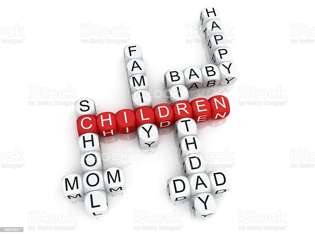 Family crosswords royalty-free stock photo